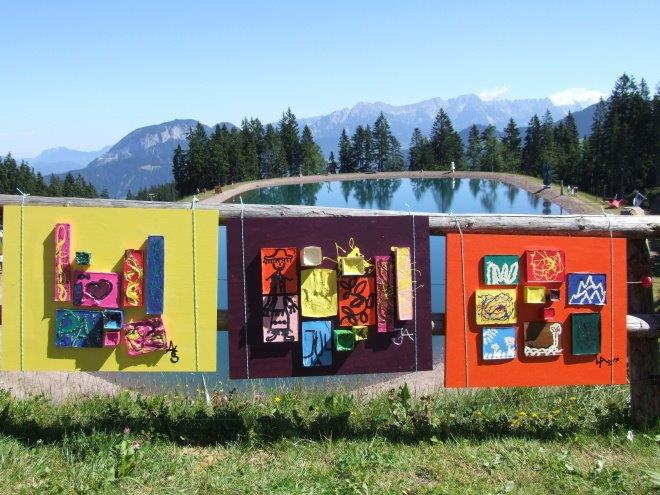 arte-escultura-tirol-austria-niederau Wildschoenau-lake-wild-kaiser-hopfgarten-encierro de montaña