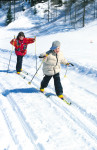 kids-winter-long-run pass-country trail long-piste loipe-beautiful-alm-up anger loipe
