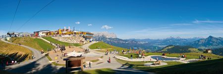 Ellmau-Tirolsko-hard-hard kaiser kaiser krajiny-mountain lyžiarska oblasť, výťah, SkiWelt-Alpes-dieťa
