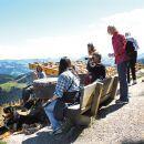 Výhľad-bank-bench-prestávka-panorama-pra-holiday-krásne-nádherné-rakúsko-Oostenrijk-vakantie